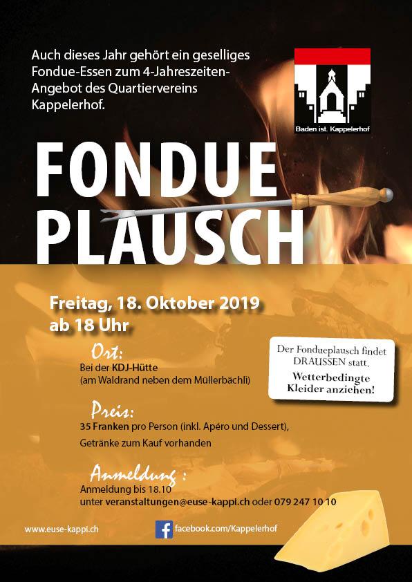 Fondueplausch Flyer